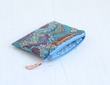 Blue Liberty fabric HOPE purse
