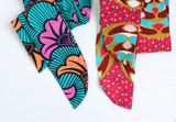 Ankara waxed cotton fabric straps for bags, belt or headscarf