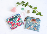 Liberty fabric & silver leather coin purse