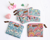 Floral Liberty fabric JOY purse gift set