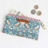Liberty fabric purse with PEACE tag