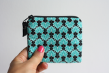 Green lotus leaf fabric coin purse