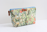 Green floral makeup bag & pouch gift set