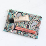 Liberty fabric paisley makeup bag