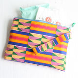 Colourful African fabric nappy pouch