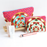 pink African fabric toiletry bag gift set BY A Bag Less Ordinary