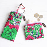 Green and pink Ankara accessory gift set