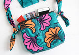African Ankara colourful cross body bag by A Bag Less Ordinary