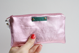 Pink leather Dream & Love purse