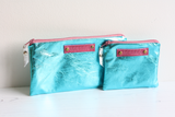 Turquoise leather 'MAMA' purse