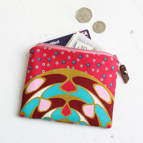 Pink Ankara fabric purse