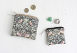 Liberty fabric & vegan leather pouch for Crystals