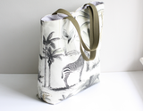 Safari print summer tote bag