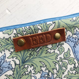 Personalised leather tag added to item - Any name or word up to 8 letters - Monogram service