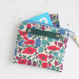 Floral fabric 'fearless' coin purse from A Bag Less Ordinary