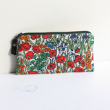 Red Liberty floral fabric purse