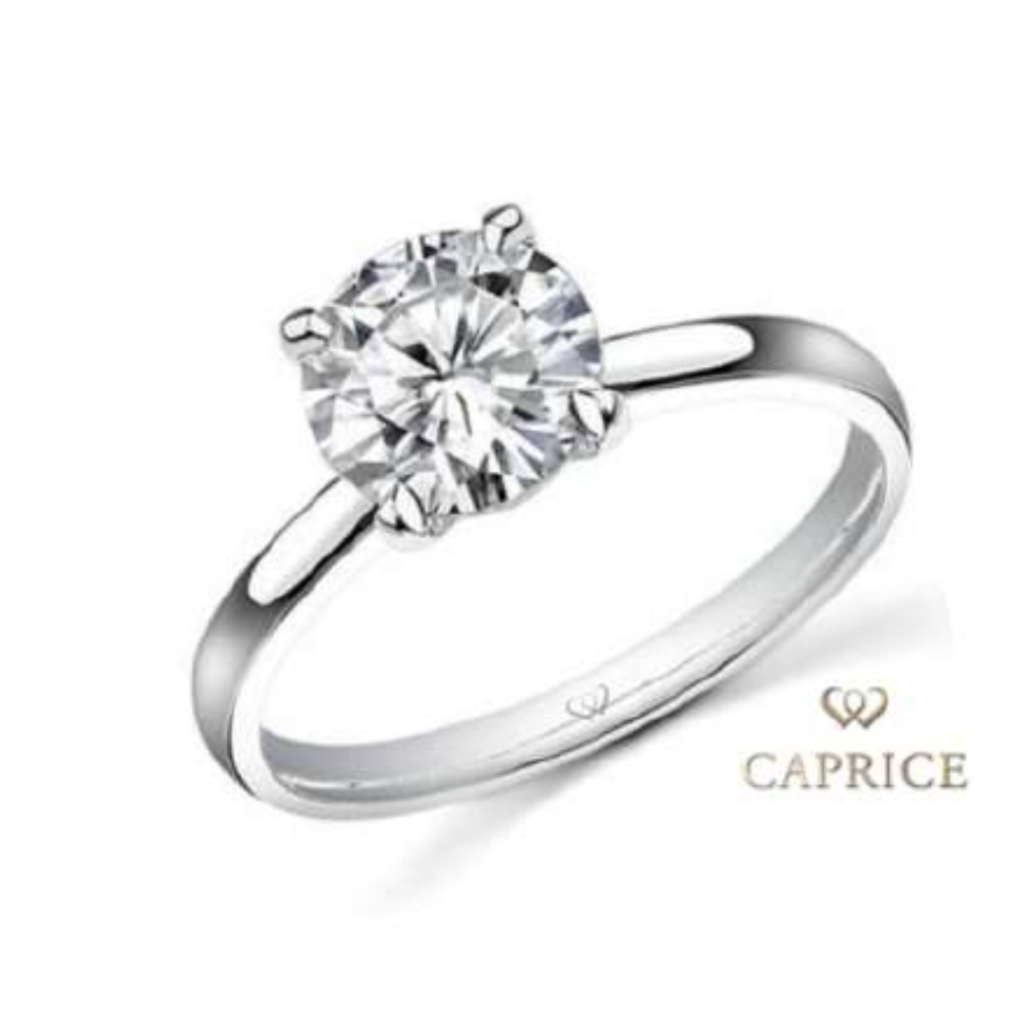 Solitaire engagement ring, 18ct white gold, with 0.50ct diamond