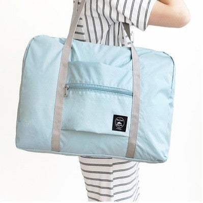 "Large Folding Duffle Bag ""Sky"""