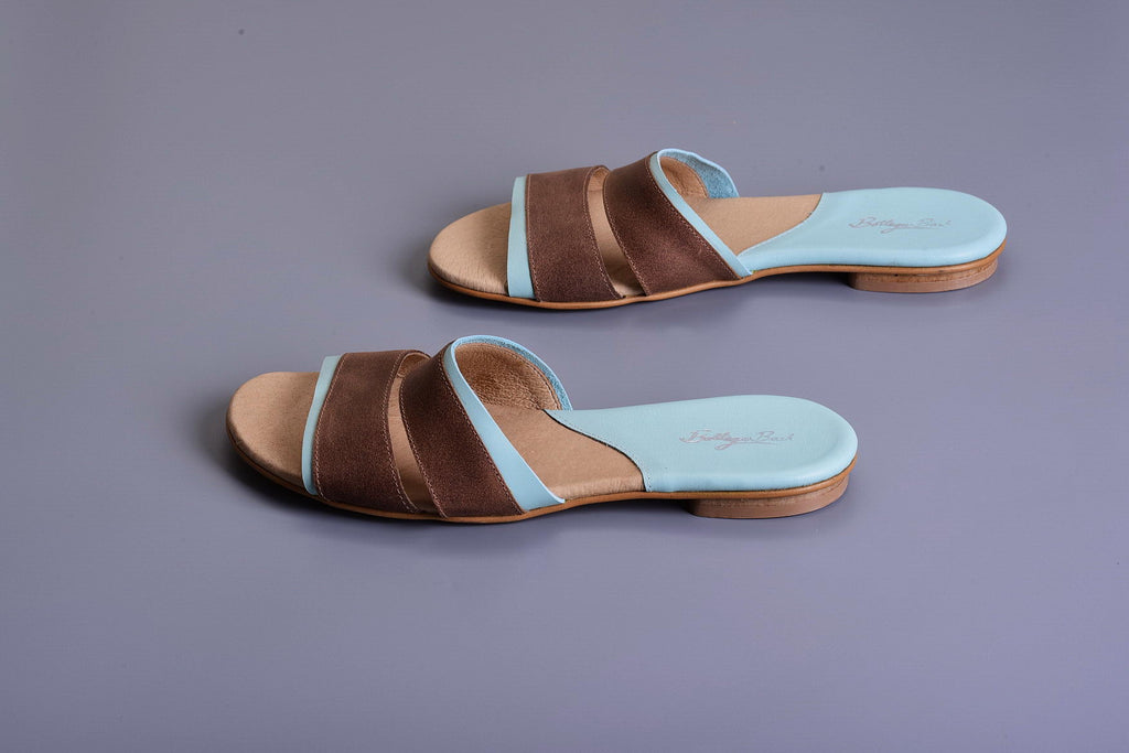 Mor Mules - Brown/Light Blue