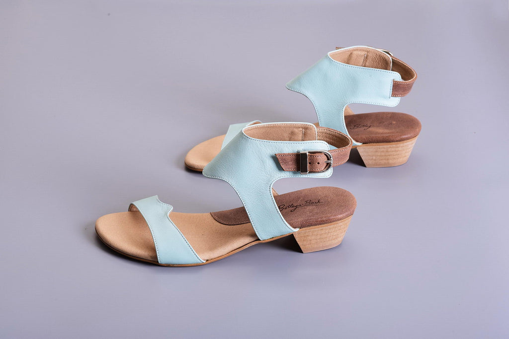 Mali Sandals - Brown/Light Blue