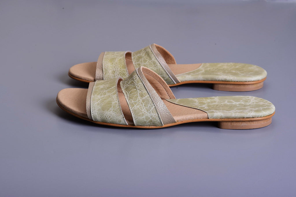 Mor Mules - Green/Gold