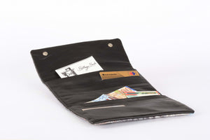 Lenny Wallet - Light Brown & Green