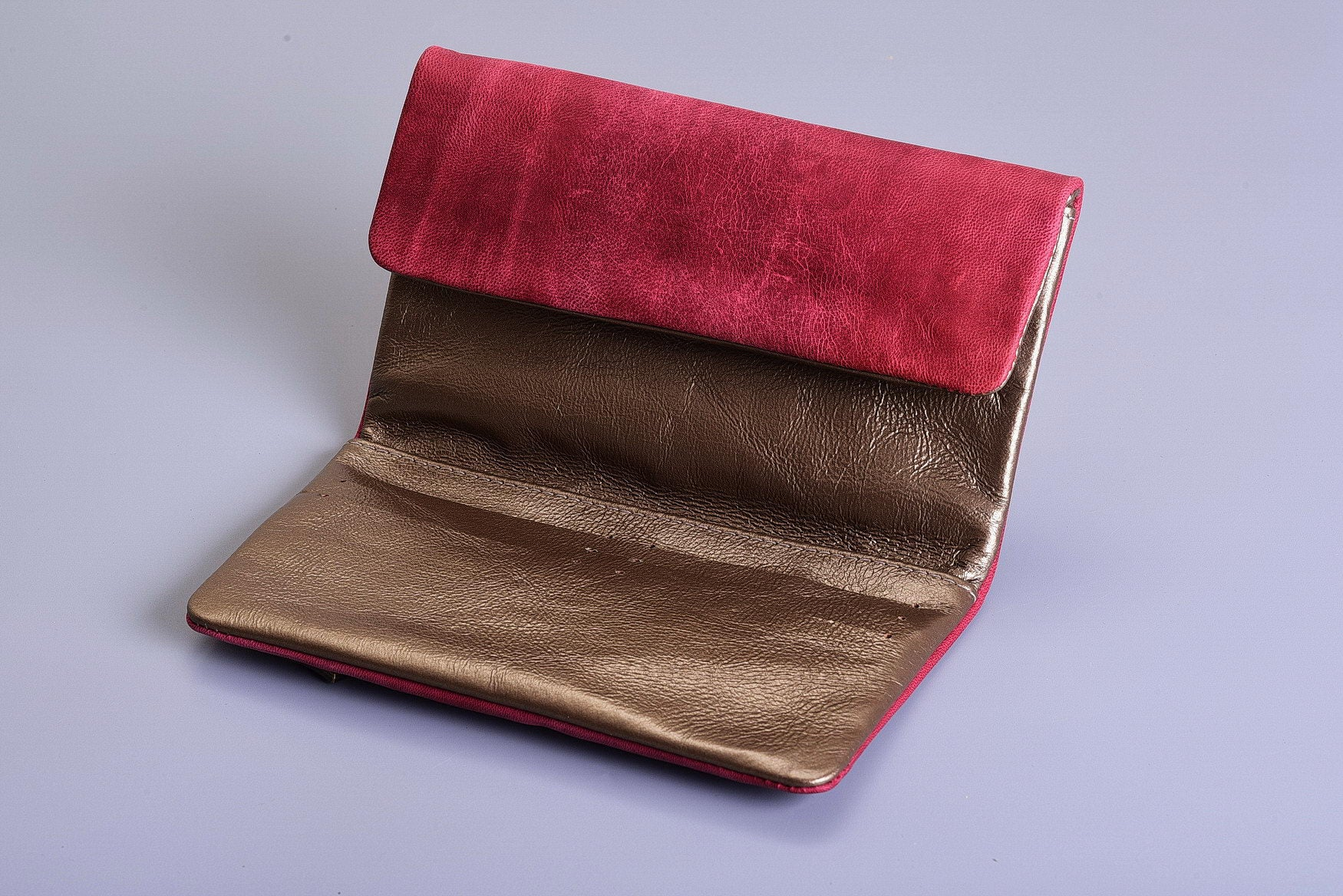 Lenny Wallet - Bordeaux & Bronze