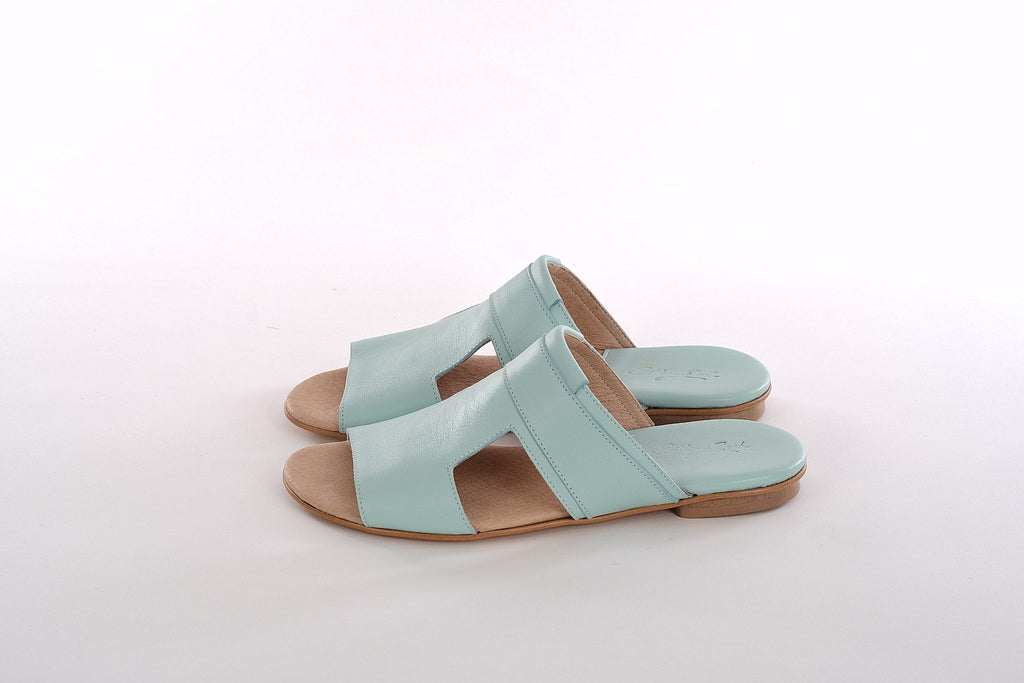 Bella Mules - Pale Blue