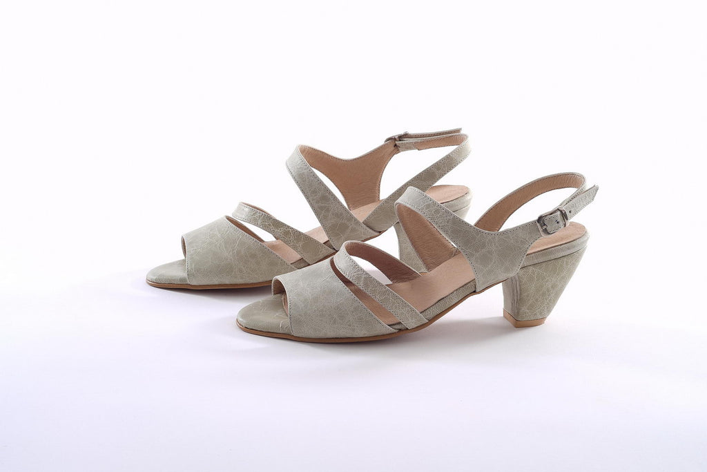 May Heeled Sandals - Light Green