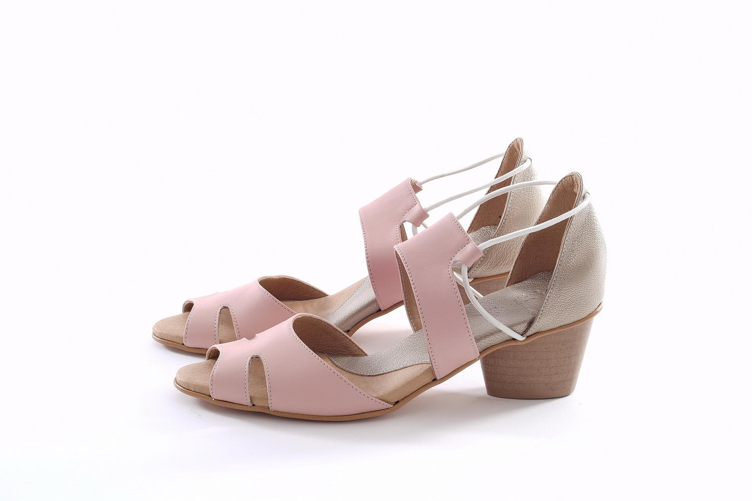 Mary Sandals - Light Pink & Gold