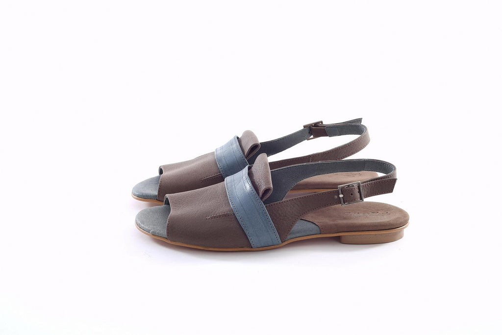 Millie Sandals - Brown & Blue
