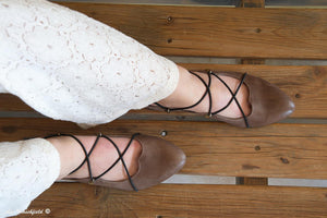 Kylie Straps Flats - Maple