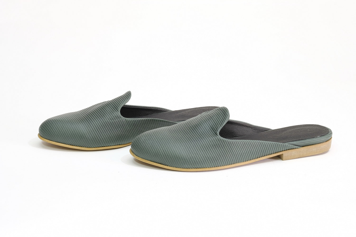 Marrakesh Flats - Green stripes