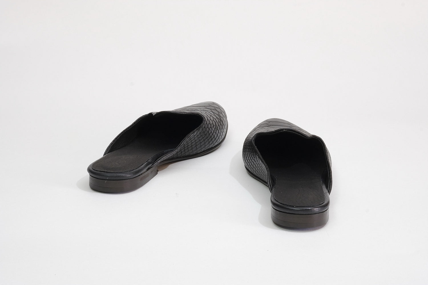 Marrakesh Flats - Black Croco
