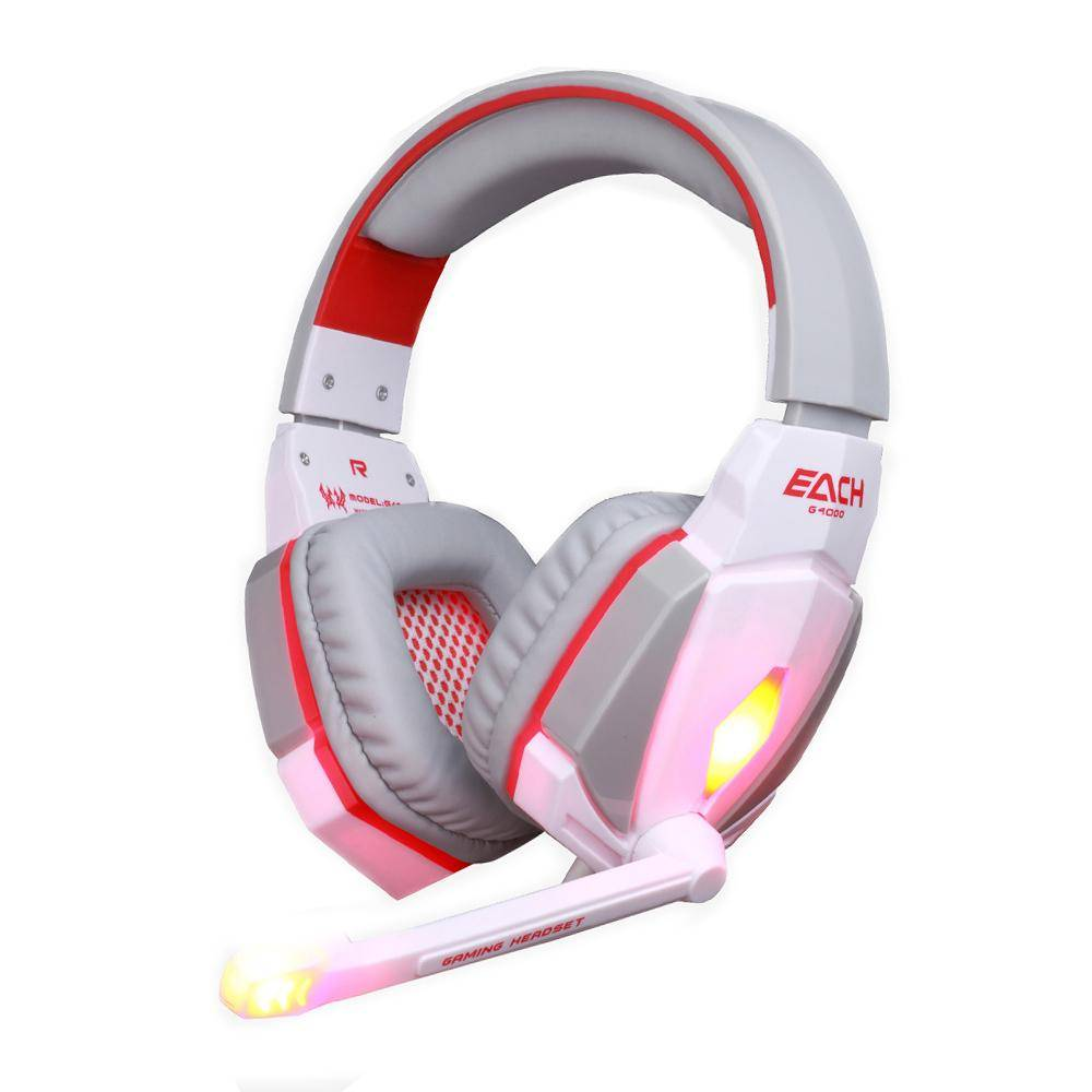 KOTION EACH G4000 Stereo Gaming Headphone Headset Headband with Mic Volume  Control for PC Game with Microphone Led Noise Cancel