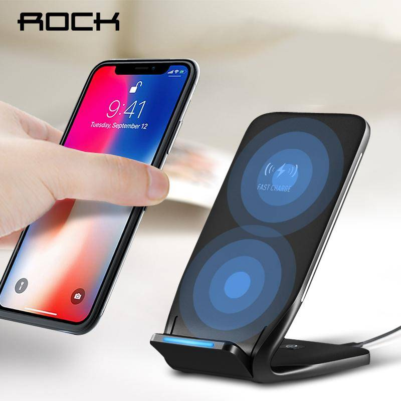 official photos c2b42 aa99b Qi Wireless Charger For iPhone X 8 10 Fast Wireless Charging Stand Dock  Station