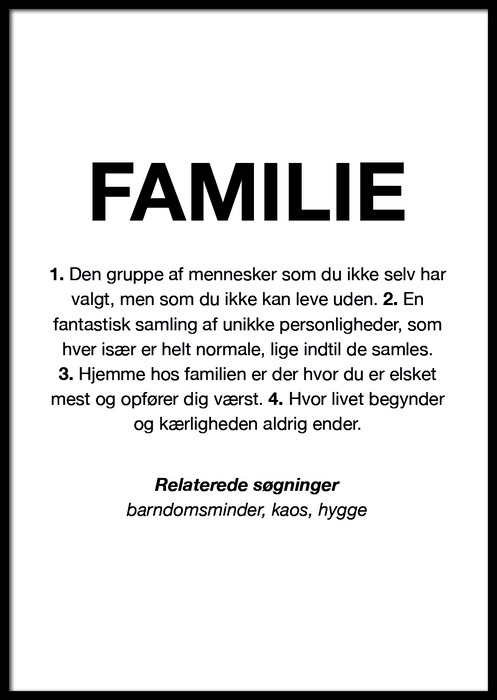 FAMILIE DEFINITION PLAKAT 👨‍👩‍👦