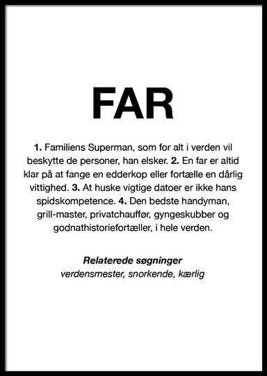 FAR DEFINITION PLAKAT 🇩🇰