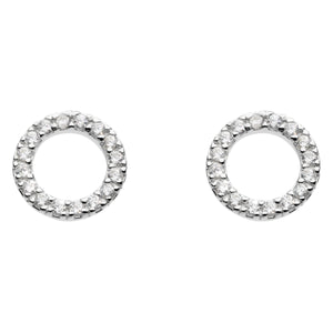 Cubic Zirconia Open Earrings
