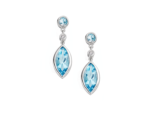 Katerina Blue Topaz Earrings