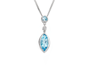 Katerina Blue Topaz Necklace
