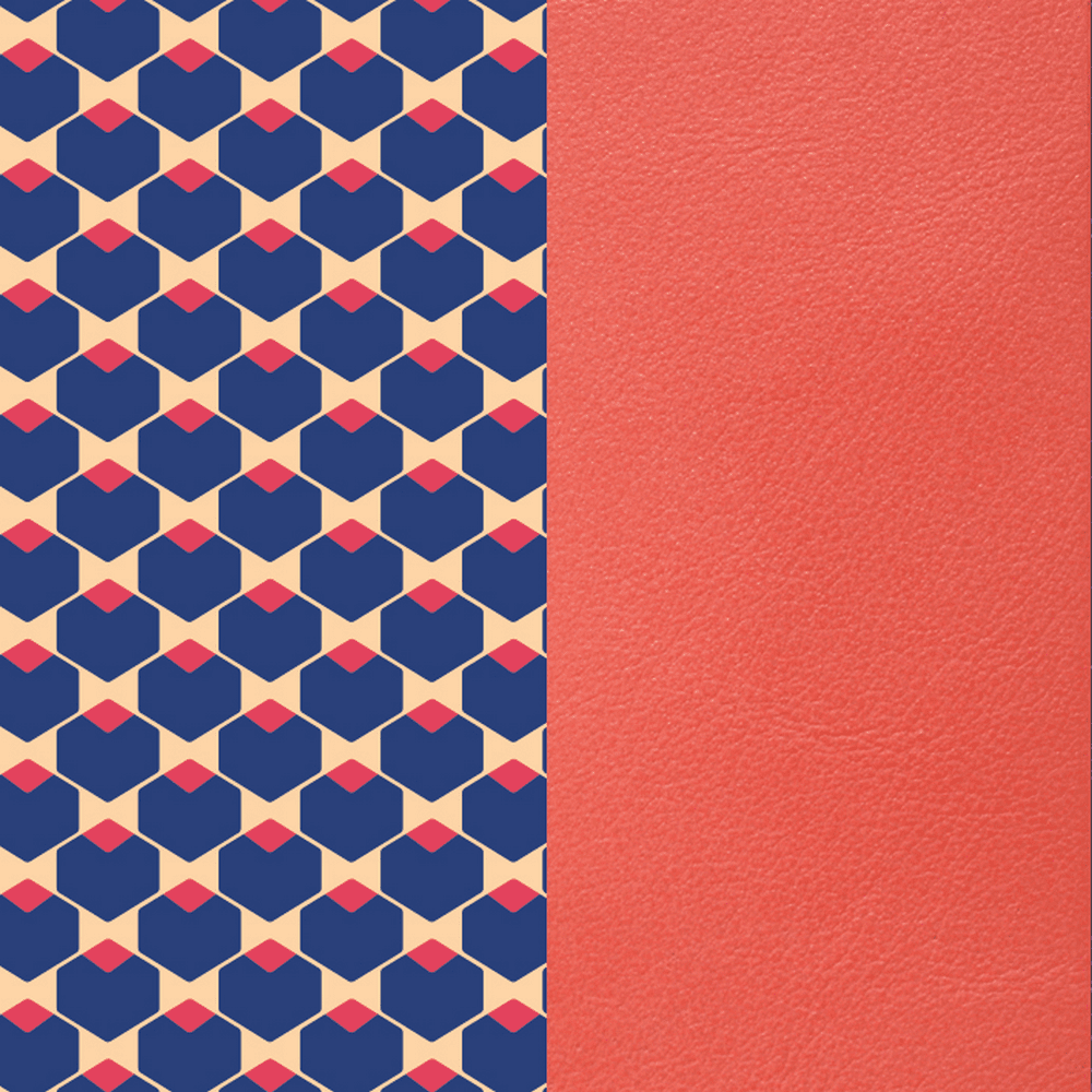 Cubic & Coral Leather
