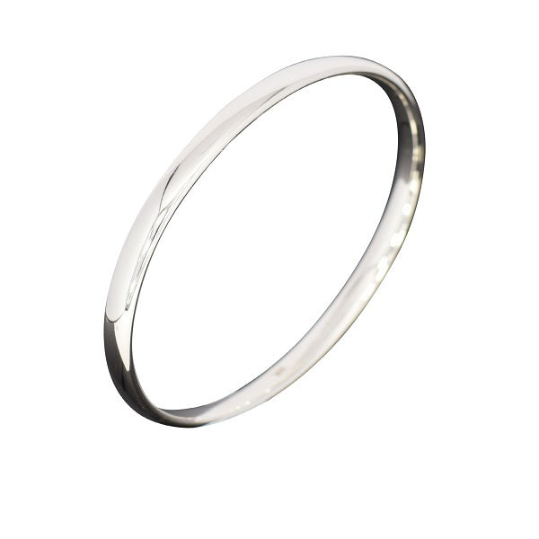 Silver Oval Bangle