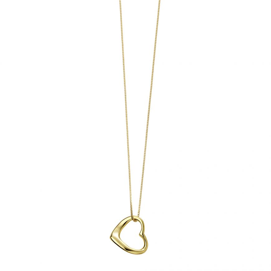 Gold Plated Open Heart Pendant