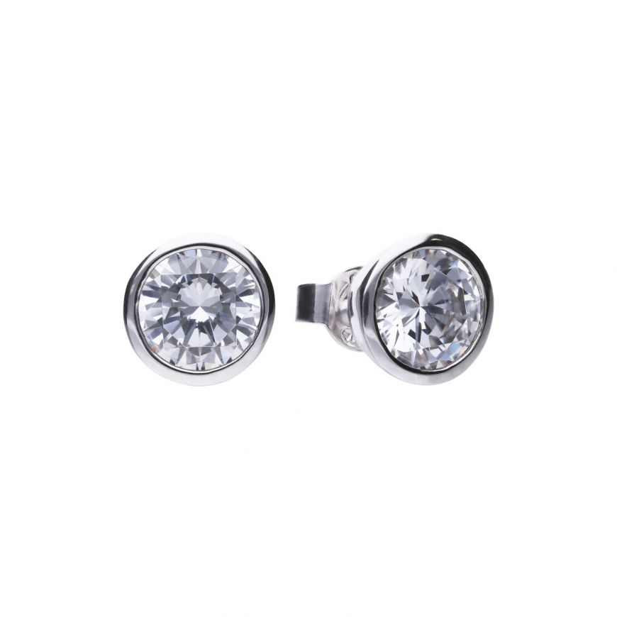 3.00ct Soliatire Bezel set Earrings - Cockrams Jewellers