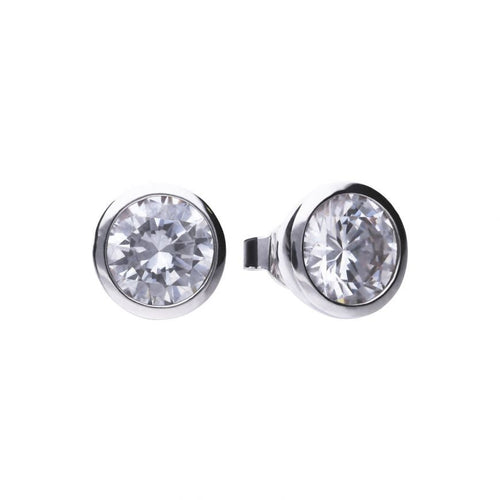 4.00ct Soliatire Bezel set Earrings - Cockrams Jewellers
