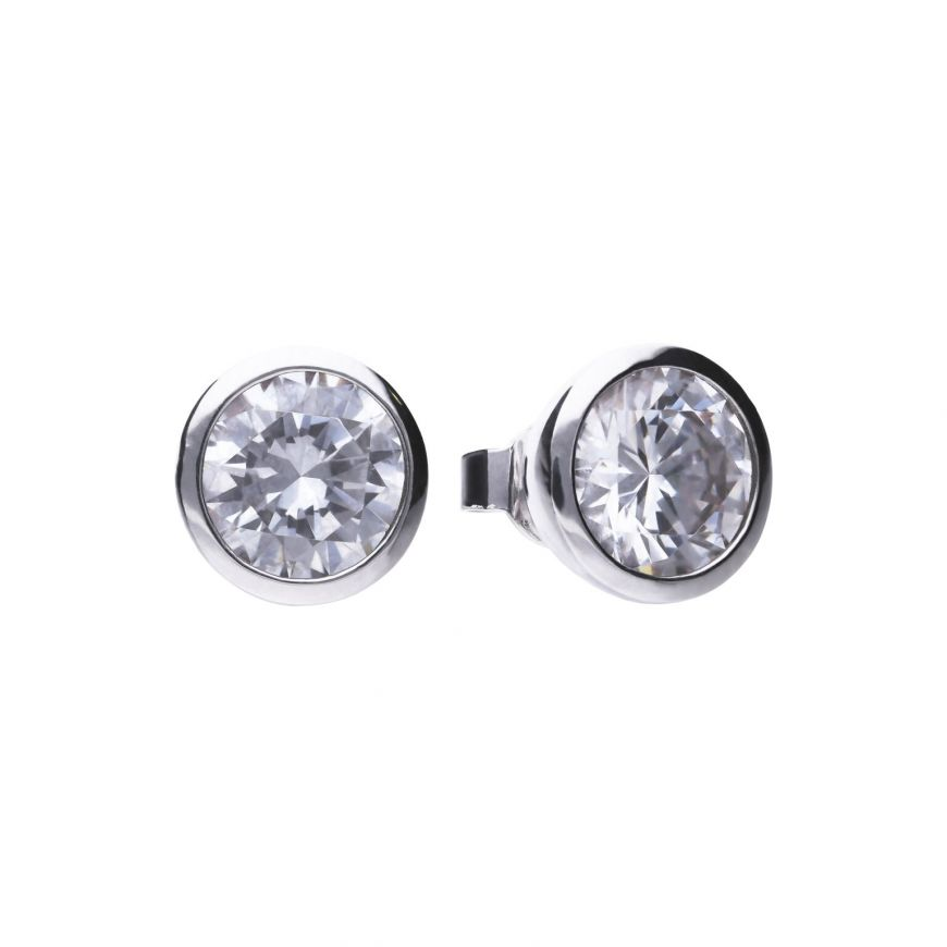 4.00ct Soliatire Bezel set Earrings