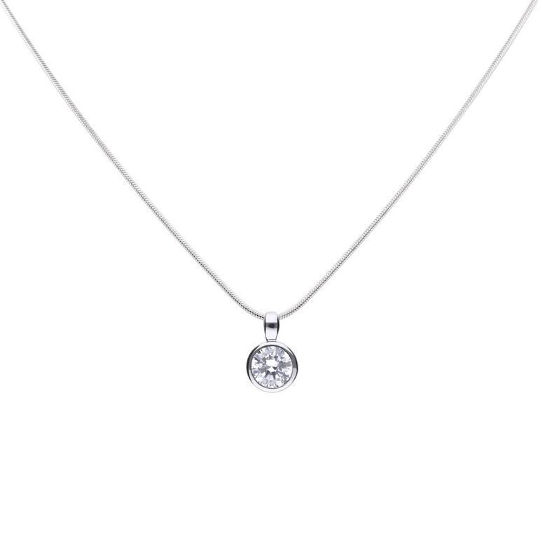 0.75ct Solitaire Bezel set Pendant - Cockrams Jewellers