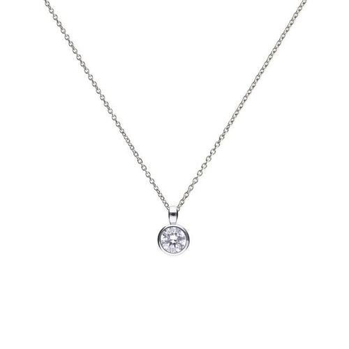 1.00ct Solitaire Bezel set Pendant - Cockrams Jewellers