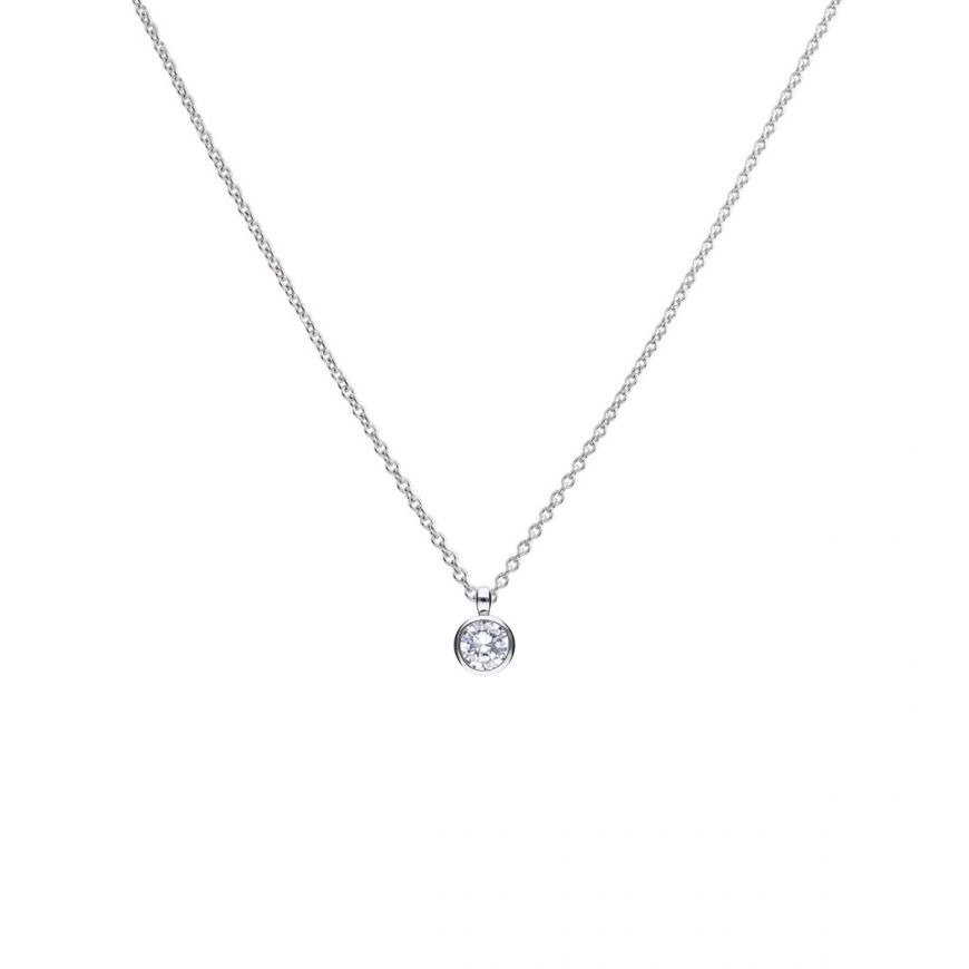 2.00ct Solitaire Bezel set Pendant - Cockrams Jewellers